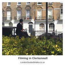 BBC FILMING HOWARDS END IN CLERKENWELL