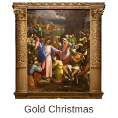 Gold Christmas at the National Gallery