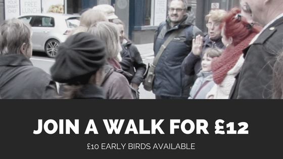 Join a London walk for £12, £10 early bird tickets available