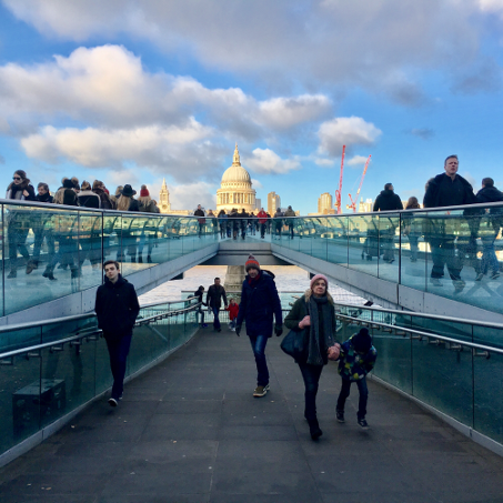Harry Potter London Walks - millennium bridge