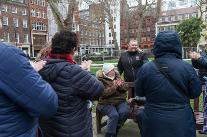 Jekyll and Hyde Walk in Soho Square