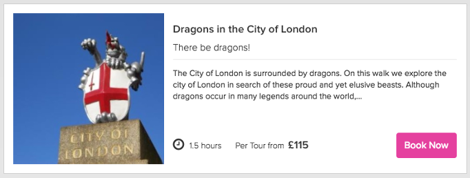 Book a private dragons in the City of London walking tour